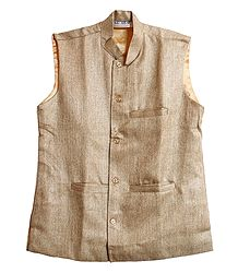 Mens Light Beige Sleeveless Jacket