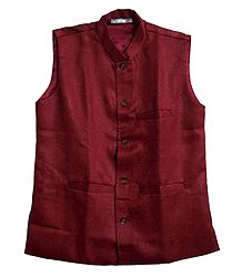 Mens Red Sleeveles Jacket