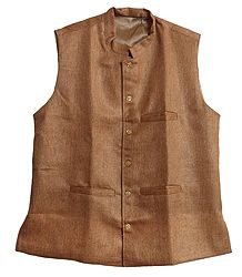 Mens Light Brown Sleeveless Jacket