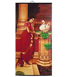 Hamsa Damayanti - Raja Ravi Varma Painting