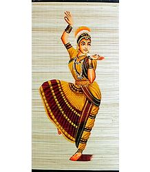 Bharatnatyam Dancer - Hand Painted Wall Hanging