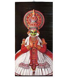 Kathakali Dancer Depicting Arjuna - (Wall Hanging)