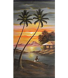 Fishing by the Riverside - (Wall Hanging)