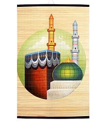 Mecca Medina - Painting on Woven Bamboo Strands - Wall Hanging