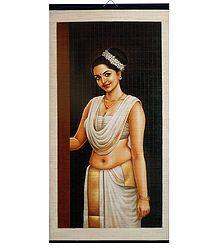 A Beautiful Maiden from Kerala - (Wall Hanging)