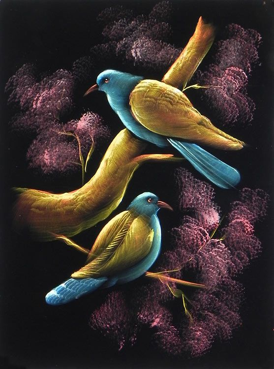 Two Birds Sitting On A Tree