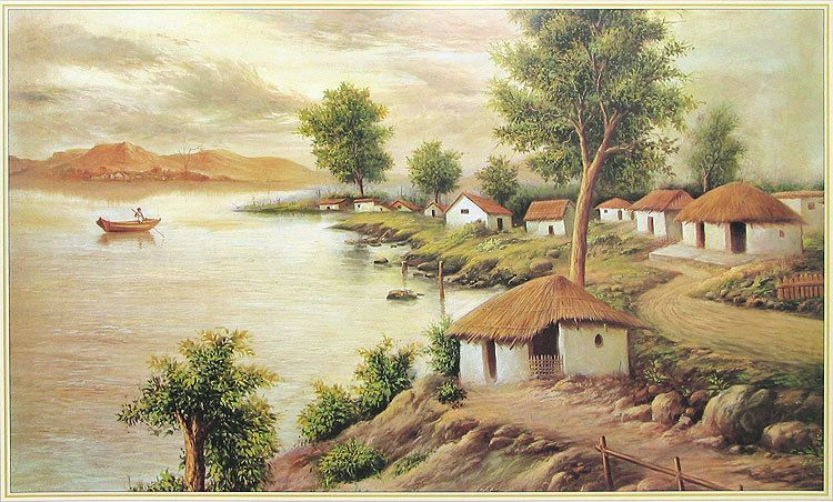 Village Painting Hd Village of West...