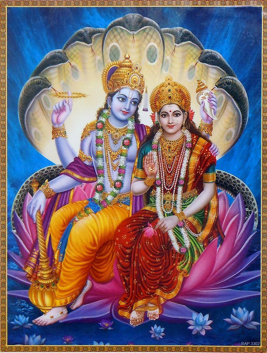 vishnu lakshmi poster