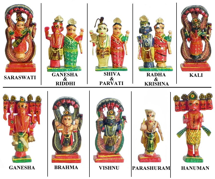 Hindu Gods And Goddesses Kondapalli Doll