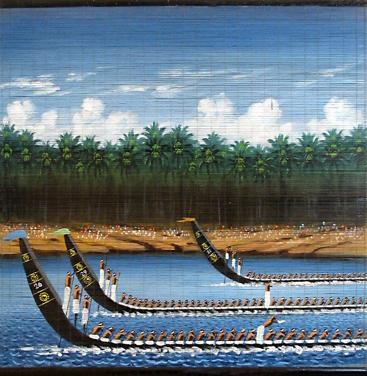 Snake Boat Race In Kerala Wall Hanging